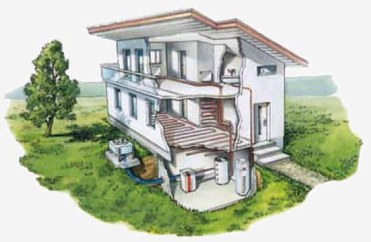 Air source heat pump - options